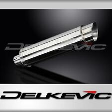 Delkevic SL10 350mm Round Stainless Steel Silencer With Baffle