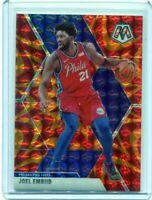 JOEL EMBIID - 2019-20 Panini Mosaic ORANGE Reactive Prizm - Philadelphia 76ers