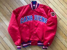Vintage Starter Jacket Montreal Canadiens Large NHL Rare Ice Hockey Canada