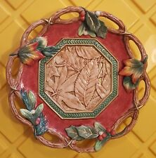 "Fitz and Floyd Christmas Lodge Canape Plate Motif (10"")"