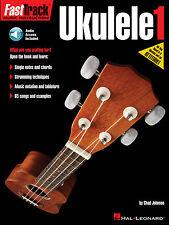FastTrack Ukulele Method Book 1 - Music Instruction Book and Audio New 000114417