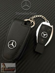 Mercedes Benz & AMG Perfect Fit Leather Key Case Key Fob Holder AUD Stock 🇦🇺