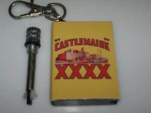 Castlemaine XXXX Custom Match Survival Flint Cigarette Lighter Fire Key Ring 4X