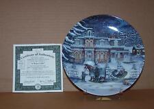 """Christmas Memories """"A Winters Tale"""" Janice Tanton Bradford Collection Plate Mint"""