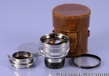 ZUNOW 50MM F1.1 NIKON RANGEFINDER S +CASE RARE LEICA M MARKING + ADAPTER MINT