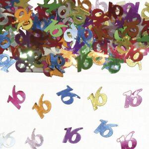 16th Happy Birthday Mix Party Celebration Confetti Decoration Party Supply