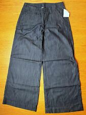 NWT Lucky Brand Palazzo Pant Jeans Dark Blue Wash Flared Wide Leg - Size 2 / 26