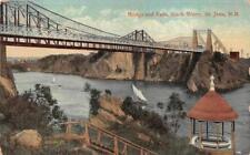 Bridge & Falls Slack Water St. John New Brunswick Canada Ship Postcard 1910