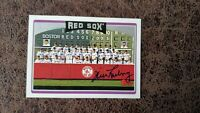 2006 Topps Boston Red Sox team card Jim Lonborg #269 - Autographed!