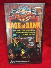 Rage At Dawn VHS Video Tape Gun Smokin Western Classics Randolph Scott NIB