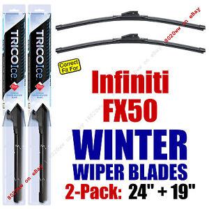 WINTER Wipers 2-Pack Premium Grade - fit 2011-2013 Infiniti FX50 - 35240/190