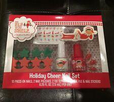 Nib-Elf on the Shelf-Christmas Tradition Holiday Cheer Nail Set-Stickers/Polish