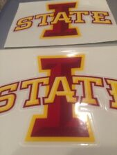 Iowa State Cyclones Full Size Football Helmet Decal Set - Authentic