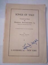 1934 SONGS OF YALE BOOKLET - TUB QQ