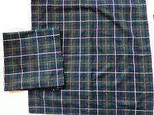 *RARE RALPH LAUREN Green Plaid Equestrian EURO Pillow SHAMS Vintage PAIR Tartan