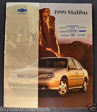1999 Chevrolet Malibu Catalog Sales Brochure LS Excellent Original 99