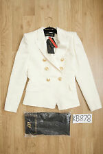 BALMAIN H&M Cream White Double-Breasted Wool Blazer/Jacket - UK8 US4 EU34 - New