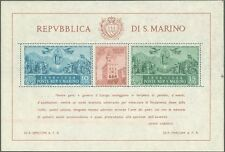 **/*San Marino 1945: CARDUCCI [6b;Filigrana Hammermill 10/10 PRV] Foglietto