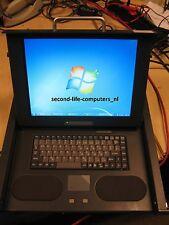 "1U Knurr 19"" Rackmount TFT Monitor Drawer 15"" LCD Display Keyboard 061007509"