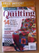 Love of Quilting Nov/Dec 2013 FREE SHIPPING, Free Gift Idea Booket, 14 Quilts