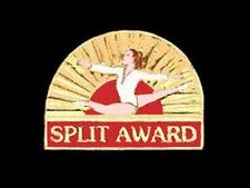 Split Award Gymnastics Lapel Pin - Bold & Glossy Design