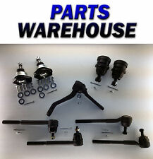 9 Pc Chevrolet Blazer S10 2Wd Set Tie Rod Ends & Lower & Upper Ball Joints