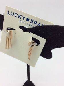 Lucky Brand rose gold tone Ray earring jackets B94
