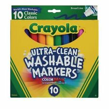 Crayola Markers Classic Color 10 Pack Nontoxic Broad Line Back To School