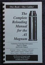 .41 Remington Mag Reloading Manual LOADBOOKS USA 41 Rem Mag NEW