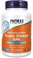 Fish Oil  NOW Foods molecularly distilled SUPER OMEGA 3/Fish Oil EPA NonGMO