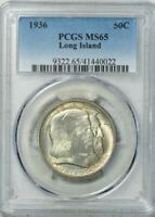 1936 Long Island Silver Commemorative Half Dollar - PCGS MS-65 - Mint State 65