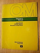 Original John Deere 1600m Series Mounted Chisel Plow Operators Manual Om N159303