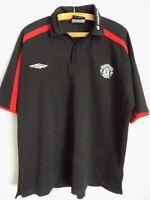 Manchester United Football Shirt Jersey Soccer Original Umbro Polo Mens Size Top