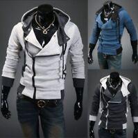 Men's Warm Zip Up Hooded Hoodies Sweatshirt Slim Fit Zipper Coat Tops Outwear