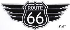 """Large ROUTE 66 with Wing Embroidered Patches 3""""x7"""""""