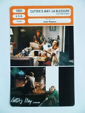 CARTE FICHE CINEMA 1981 CUTTER'S WAY LA BLESSURE Jeff Bridges John Heard Lisa Ei