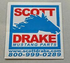 SCOTT DRAKE MUSTANG PARTS Sticker Decal Unused NOS Racing