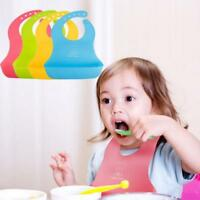 Baby Kids Boys Girls Waterproof Feeding Bibs Apron Saliva Towel Bib Smock