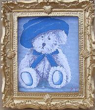1:12 Framed Picture Print Of Martin The Teddy Bear Dolls House Miniature Art JD