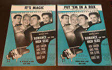 Sheet Music ~ Doris Day & Others ~ Pair ~ Romance on the High Seas ~ 1958