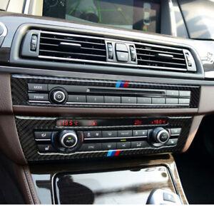 For BMW F10 5 Series Interior Trim Carbon Fiber Car CD Control Panel Sticke SU