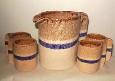 Espresso Coffee Set Hand Made Pottery Venezuela 5 Pieces