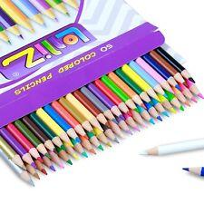 50 Color Pencil Set Pencils For Adult Coloring Books Drawing Pencil Art