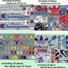 Whole sheet mixed lots Sports Logo Stickers Iron on Heat Transfer Patches