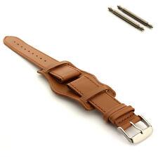 Men's Military Genuine Leather Watch Strap Band Pad 18 20 22 24 Bund MM