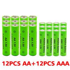 AA AAA Battery New Alkaline Rechargeable Batteries 1.5V 2100-3000MAH Batteries L