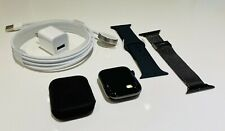NEW Apple Watch Series 5 44mm BLACK Stainless Steel Case + NEW Extras