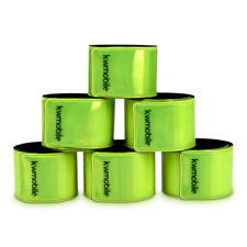 6x Reflektorband Neongelb Reflektierendes Band Reflektor Schnapparmband EN13356