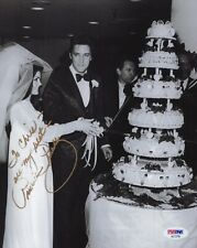 Pricilla Presley Authentic Signed 8x10 Photo Wedding Day Elvis To Chris Psa
