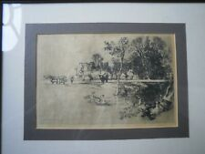 SIR FRANCIS SEYMOUR HADEN 1818-1910 FINE SIGNED ETCHING COWDRAY 1882